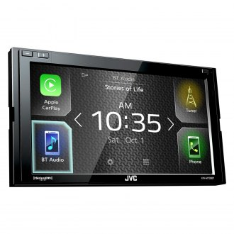 "JVC® - Double DIN AM/FM/MP3/WMA/FLAC/AAC/WMV/AVI/MP4 Digital Media Receiver with 6.8"" Touchscreen Display, Built-In Bluetooth, GPS Ready, iPhone®/Android™ Music Playback and SiriusXM Ready"