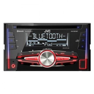 JVC® - Double DIN CD/USB/Aux Receiver with Bluetooth