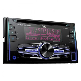 JVC® - Double DIN CD/AM/FM/MP3/WMA Receiver with Built-In Bluetooth, Pandora Control, SiriusXM Radio Ready and 2 Sets Preamp Outputs