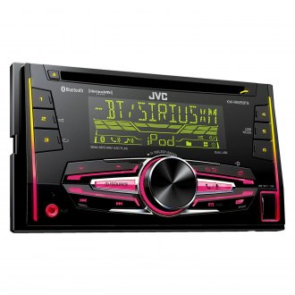 JVC® - Double DIN CD/AM/FM/MP3/WMA/FLAC In-Dash Receiver with Built-In Bluetooth, Pandora Control, SiriusXM Radio Ready