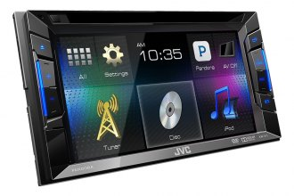 "JVC® - Double DIN DVD/CD/MP3/USB Touchscreen Receiver with 6.2"" Touchscreen"