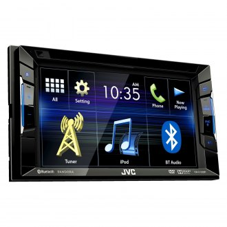 "JVC® - Double DIN DVD/CD/AM/FM/MP3/WMA Receiver with 6.2"" Touchscreen Monitor, Built-In Bluetooth, Sirius XM Ready and Pandora support"