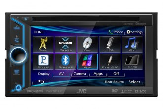"JVC® - Double DIN 6.1"" DVD / CD / USB / Bluetooth / SiriusXM Ready Touch Screen Receiver"