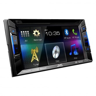 "JVC® - Double DIN DVD/CD/MP3/USB/Bluetooth/SiriusXM Ready Receiver with 6.2"" Touchscreen"
