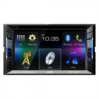 "JVC® - Double DIN DVD/CD/AM/FM/MP3/WMA SiriusXM Ready Receiver with 6.2"" Touchscreen and Built-In Bluetooth"