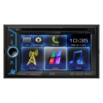 "JVC® - Double DIN DVD/CD/USB/Bluetooth/HD Voice/SiriusXM Ready Receiver with 6.1"" Touchscreen"