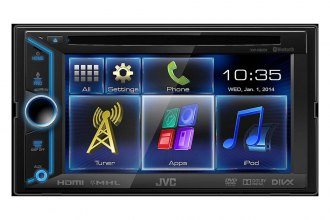 "JVC® - Double DIN DVD/CD/USB/Bluetooth/HD Voice/SiriusXM Ready Touch Screen Receiver with 6.1"" Touchscreen"
