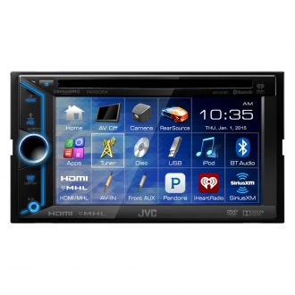 "JVC® - Double DIN CD/DVD Receiver with Bluetooth and 6.1"" Touchscreen"