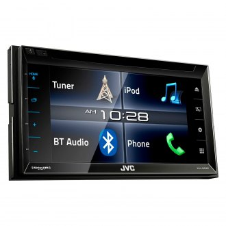 "JVC® - Double DIN DVD/CD/AM/FM/MP3/WMA Receiver with 6.2"" Touchscreen Monitor, Built-In Bluetooth, Sirius XM Ready and iDataLink Maestro"