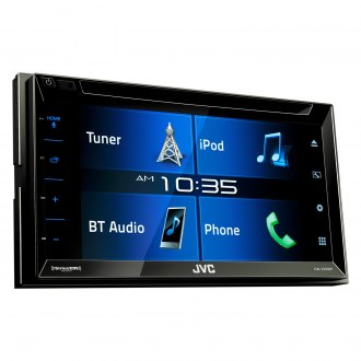 "JVC® - Double DIN DVD/CD/AM/FM/MP3/WMA/AAC/FLAC Receiver with 6.2"" Touchscreen Display, Built-In Bluetooth, SiriusXM Ready and iDataLink Maestro Ready"
