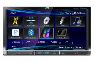 "JVC® - Double DIN 7"" DVD/CD/USB/Bluetooth/SiriusXM Ready/Remote Receiver"