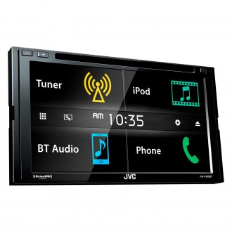 "JVC® - Double DIN DVD/CD/AM/FM/MP3/WMA/AAC/FLAC Receiver with 6.8"" Touchscreen Display, Built-In Bluetooth, SiriusXM Ready and iDataLink Maestro Ready"