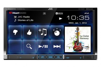 "JVC® - Double DIN DVD/Bluetooth/USB/SiriusXM Ready/Remote Receiver with 7"" Monitor"