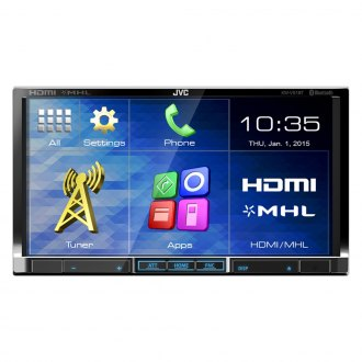 "JVC® - Double DIN CD/DVD Receiver with Bluetooth and 7"" Touchscreen"