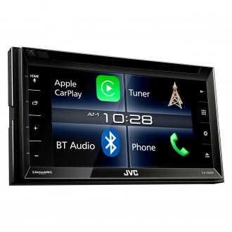 "JVC® - Double DIN DVD/CD/AM/FM/MP3/WMA/FLAC/AAC/MP4/AVI Receiver with 6.2"" Touchscreen Display Built-In Bluetooth, SiriusXM, HDMI, iDataLink Maestro, Dual Zone and Apple CarPlay/Android Auto"