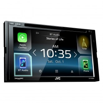 "JVC® - Double DIN DVD/CD/AM/FM/MP3/WMA/FLAC/AAC/WMV/AVI/MP4 Receiver with 6.8"" Touchscreen Display, Built-In Bluetooth, GPS Ready, SiriusXM Ready and Android™ Auto Controls"