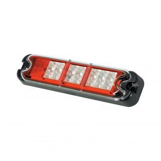 J.W. Speaker® - Chrome/Red LED Stop/Tail/Backup/ Turn Signal Tail Light