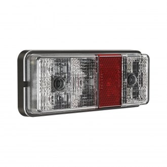 "J.W. Speaker® - 220 Series 6x3"" Black/Red Rectangular LED Tail Light with Turn Signal"