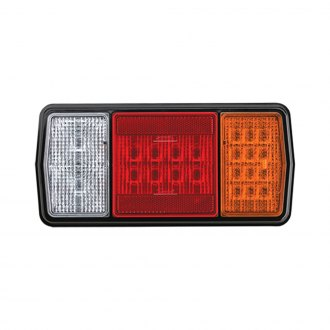 J.W. Speaker® - Black Red/Amber Stop/Tail/Turn Signal LED Tail Light