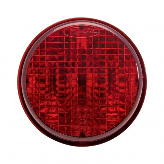"J.W. Speaker® - 217 Series 3"" Chrome/Red Round LED Tail Light"