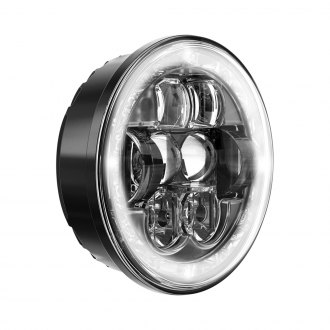 "J.W. Speaker® - 5 3/4"" Round Black Projector LED Headlight, High Beam"