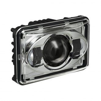 "J.W. Speaker® - 4x6"" Rectangular Chrome Projector LED Headlights"