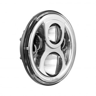"J.W. Speaker® - 7"" Round Chrome 8700 Evolution 2 Projector LED Headlight"
