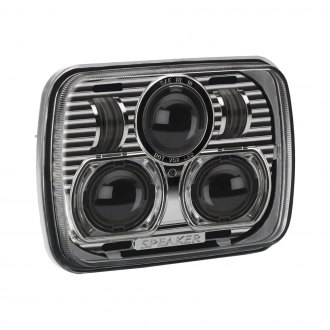 "J.W. Speaker® - 7x6"" Rectangular 8900 Evolution Chrome Projector LED Headlight"