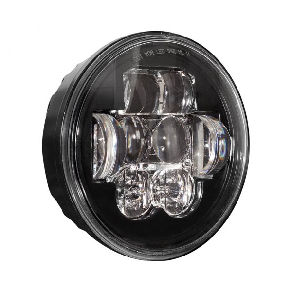"J.W. Speaker® - 5 3/4"" Round Black Projector LED Headlight"