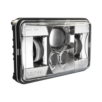 "J.W. Speaker® - 8800 Evolution 2 4x6"" Rectangular Chrome Projector LED Headlight"