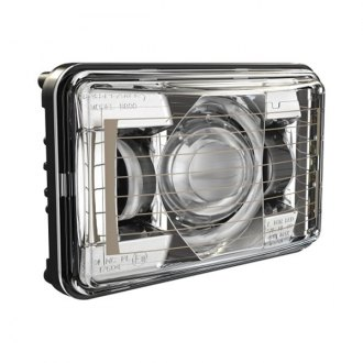 "J.W. Speaker® - 4x6"" Rectangular Chrome 8800 Evolution 2 Projector LED Headlight"