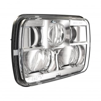 "J.W. Speaker® - 8900 Evolution 2 7x6"" Rectangular Chrome Projector LED Headlight"
