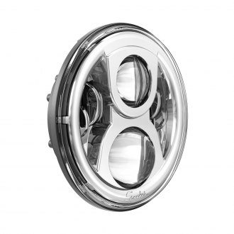 "J.W. Speaker® - 7"" Round Evolution 2 High/Low Beam Chrome Projector LED Headlight"