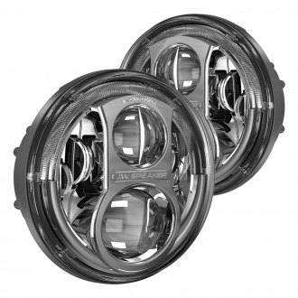 "J.W. Speaker® - 7"" Round Evolution J High/Low Beam Chrome Projector LED Headlights"