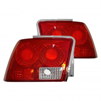 K-Metal® - Driver and Passenger Side Chrome/Red Tail Lights