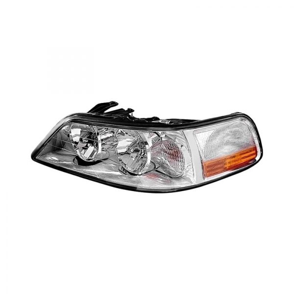 k metal lincoln town car with factory halogen headlights 2003 2004 replacement headlight. Black Bedroom Furniture Sets. Home Design Ideas