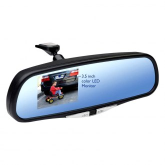 "K Source® - Rear View Mirror with Built-in 3.5"" Monitor and Surface Mount Camera"