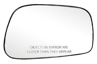 K Source® - Passenger Side Side Mirror Glass with Backing Plate