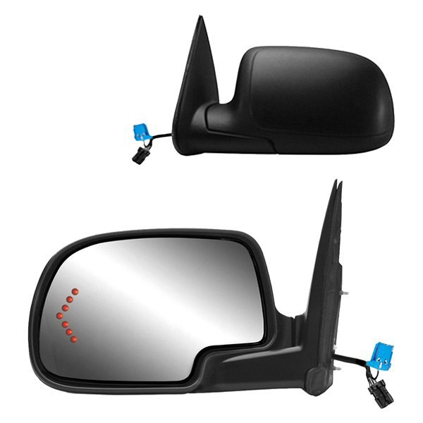Fit System 62134G Chevrolet//GMC//Cadillac Driver Side OE Style Heated Power Replacement Towing Mirror with Arrow Signal