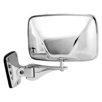 K Source® - 1 Point Mount Manual View Mirror (Non-Heated, Foldaway)