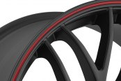 KATANA® - GTM Matte Black with Red Pinstripe Close-Up