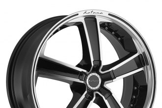 "KATANA® - KR12 Black With Machined Face and Lip (18"" x 7.5"", +35 Offset, 5x112 Bolt Pattern, 66.56mm Hub)"