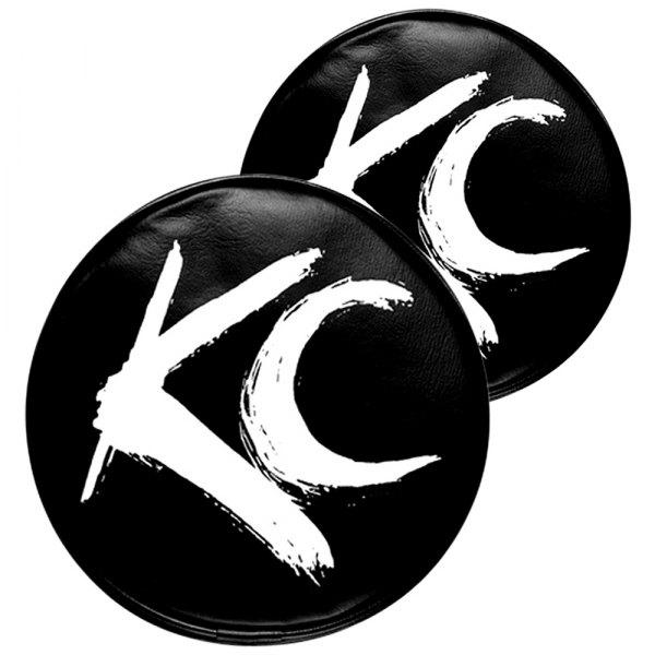 KC HiLiTES 5102 6 in Round Yellow On Black Vinyl KC Logo Soft Light Cover
