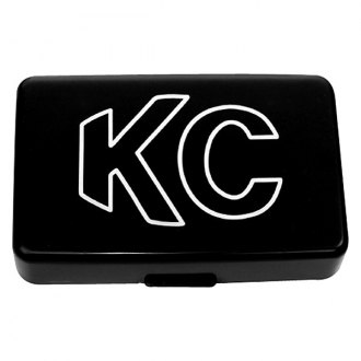 "KC HiLiTES® - 7""x5"" Rectangular Black Plastic Light Cover with White Outline KC Logo for 57 Series"