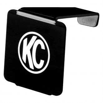 "KC HiLiTES® - 3"" Square Black Acrylic Light Cover with White KC Logo for LZR Series"