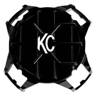 "KC HiLiTES® - 4"" Round Black ABS Light Grill with White KC Logo for LZR Series"
