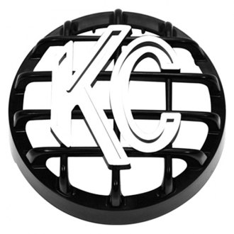 "KC HiLiTES® - 4"" Round Black ABS Light Grill with White KC Logo for Rally 400 Series"