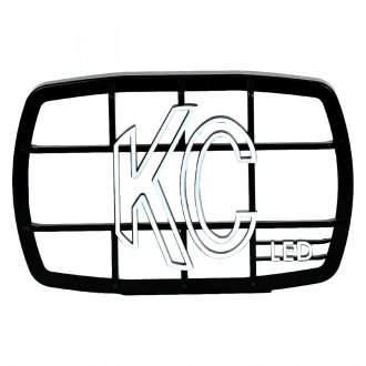 "KC HiLiTES® - 6""x4"" Rectangular Black ABS Light Grille with White KC Logo for Gravity LED G46"