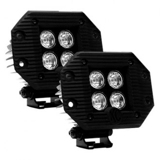 "KC HiLiTES® - LZR Series Flush Mount 3"" 2x20W Cube Driving Beam LED Lights"