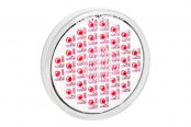 "KC HiLiTES® - Utility LED 4"" Round Red with Clear Lens Rear Brake Light"
